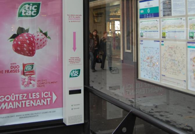 Street Marketing  des tic tac pour patienter…