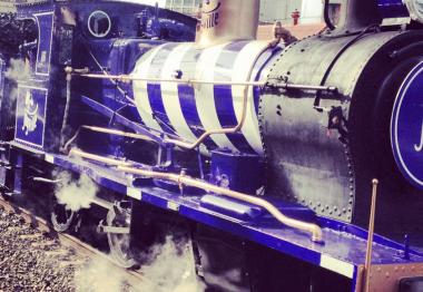Un train à vapeur pour promouvoir